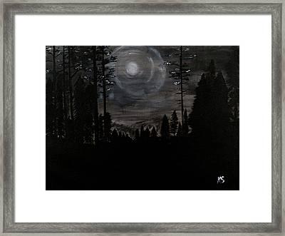 Night Framed Print by Katy  Scott