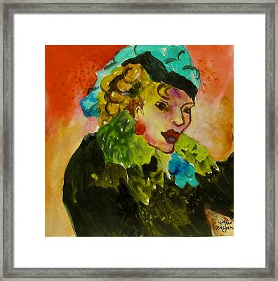 Night Lady Ruby Framed Print by Carole Johnson