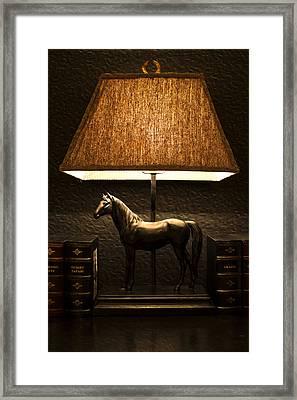 Night Lamp Framed Print by Radoslav Nedelchev