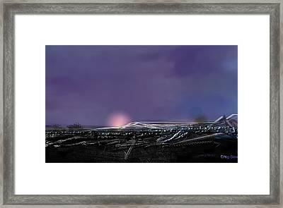 Night Landing Approch Framed Print by Greg Stew