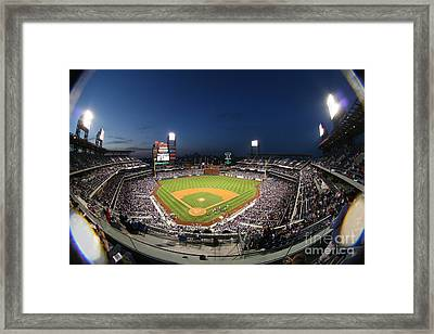 Night Life At Citizens Bank Park Framed Print