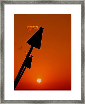 Night Light Framed Print by Athala Carole Bruckner