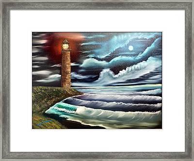Night Light Framed Print by Joyce Krenson