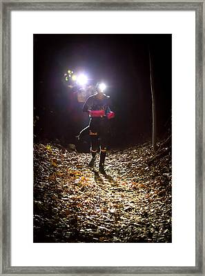 Night Lights Framed Print by Geoffrey Baker