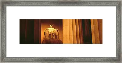 Night, Lincoln Memorial, Washington Dc Framed Print by Panoramic Images