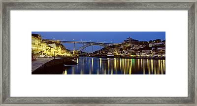 Night, Luis I Bridge, Porto, Portugal Framed Print by Panoramic Images