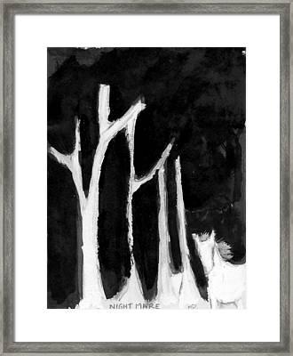 Night Mare Framed Print