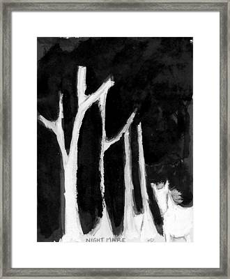 Night Mare Framed Print by Michael Dohnalek
