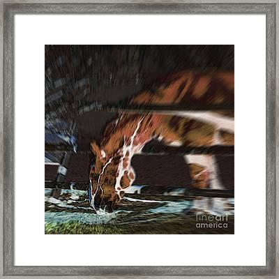Framed Print featuring the digital art Night-mare by Stuart Turnbull