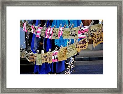 Night Market Tags Framed Print by Marina Slusar