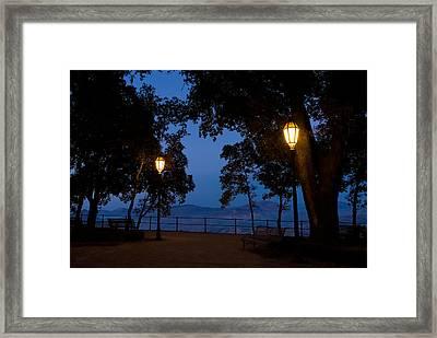 Night Meeting Framed Print
