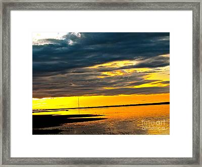 Night Meets Day Framed Print by Q's House of Art ArtandFinePhotography
