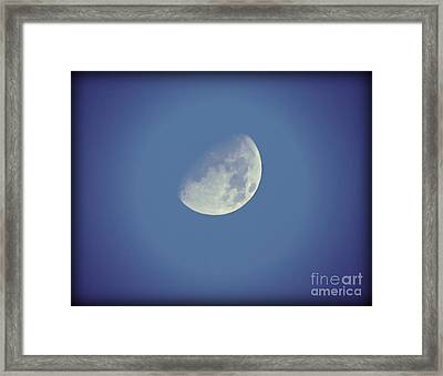 Night Moon Rising Framed Print