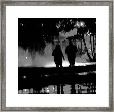 Night Moves  A Walk In The Park  Framed Print by Rosemarie E Seppala