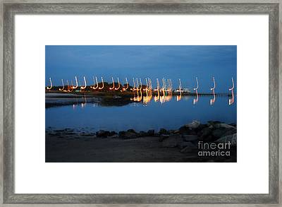 Night Notes Framed Print by Skip Willits