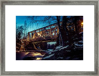 Night Of Steel Framed Print