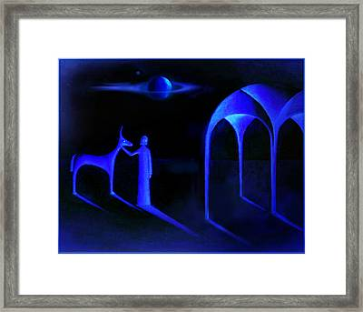 Night Of  The Blue Moon Framed Print by Hartmut Jager