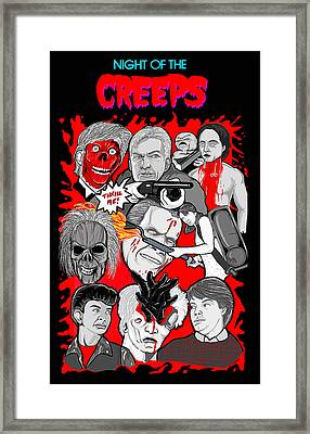 Night Of The Creeps  Framed Print by Gary Niles