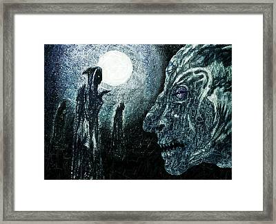 Night Of The Devious Alliance Framed Print by Hartmut Jager