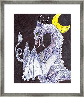 Night Of The Dragon Framed Print by Joshua Massenburg