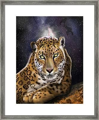 Fourth Of The Big Cat Series - Leopard Framed Print