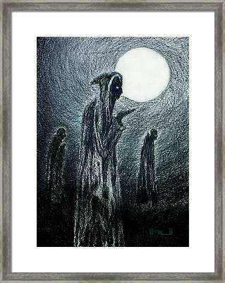 Night Of The Mad Monks Framed Print by Hartmut Jager