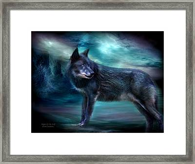 Night Of The Wolf Framed Print