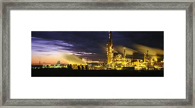 Night Oil Refinery Framed Print