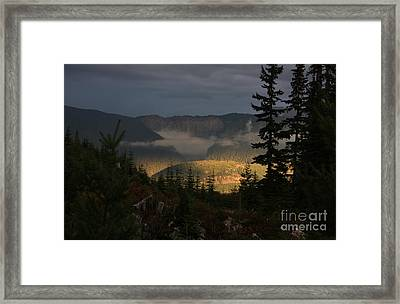 Night On Cougar Mountain Series Vi Framed Print
