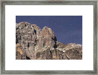 Night On Mountain Framed Print by Ioan Panaite
