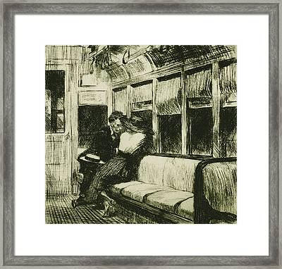Night On The El Train Framed Print by Edward Hopper