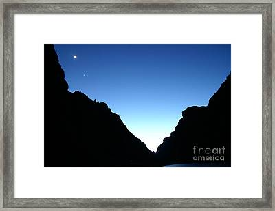 Night On The Grand Framed Print by Crystal Magee