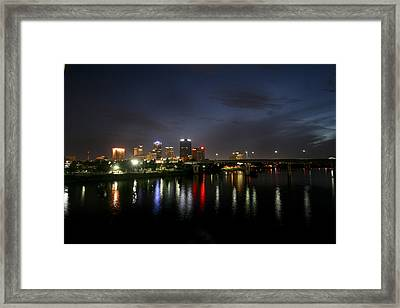 Night On The Junction Bridge Framed Print by Robert Camp
