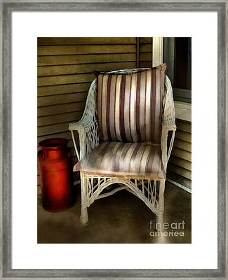 Night On The Porch Framed Print