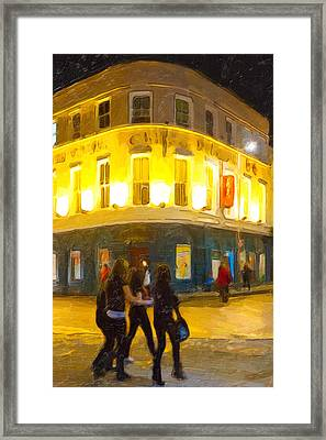 Night On The Town In Galway Framed Print by Mark E Tisdale