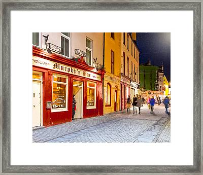 Night Out At Murphy's Bar In Galway Framed Print by Mark E Tisdale