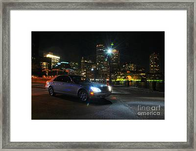 Night Out In Boston Framed Print
