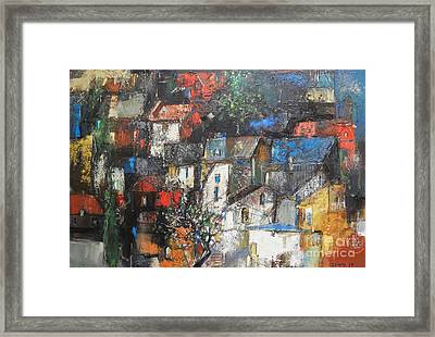 Night Over The Town Framed Print