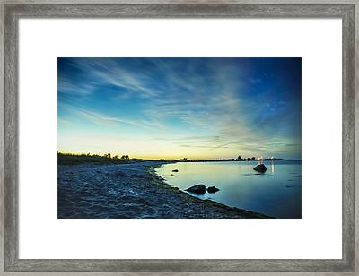 Night Overtaking The Sky Framed Print