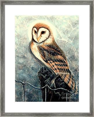 Night Owl Framed Print by Janine Riley