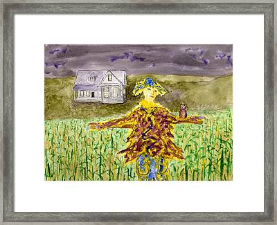 Night Owl Scarecrow Framed Print