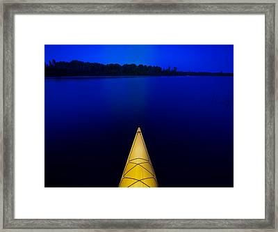 Night Paddle Framed Print