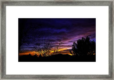 Night Paints The Sky Framed Print by Nancy Marie Ricketts
