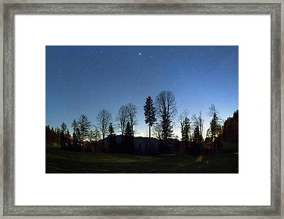 Night Panorama With Stars Framed Print