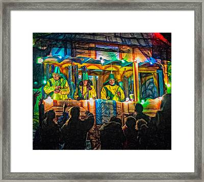 Night Parade 2 - Paint Framed Print