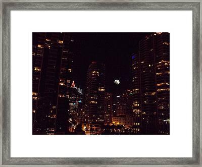 Night Passage - San Diego Framed Print by Glenn McCarthy