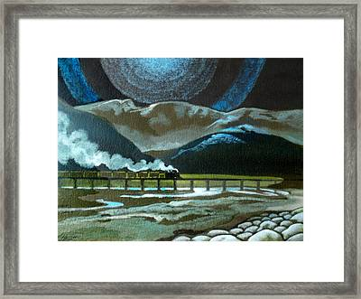 Night Passage - Ww480 Steam Framed Print by Patricia Howitt