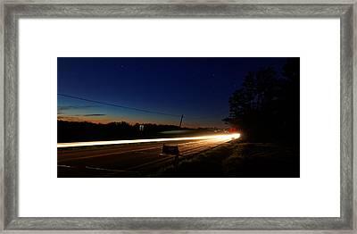 Night Passing Framed Print