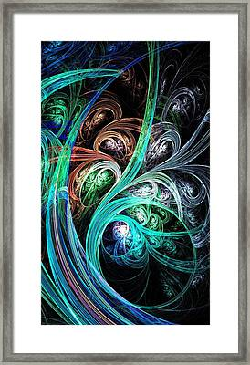 Night Phoenix Framed Print by Anastasiya Malakhova