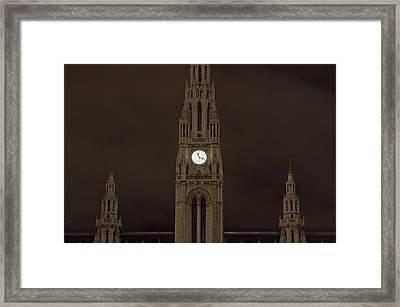 Night Rathaus Framed Print by Viacheslav Savitskiy